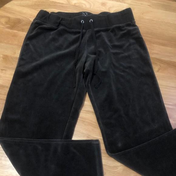 Brown New York & Company Woman Velvet Track Pants